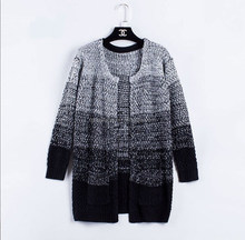 2015 new design heavy weight front open women cardigan sweater ladies thick hand knitted cardigan manufacturer