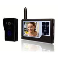 villa wireless Video door phone, 3.5inch LCD door entry video security camera