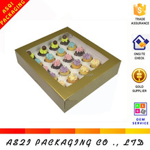 2015 newest design of PVC window 12 cupcake box with dividers