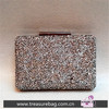 ED33077 retro flash diamond drill glitter shinning hard case evening satchel