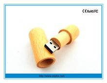 Corporate gift 1gb usb flash memory,natural wooden usb stick with box