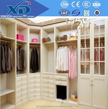 white colour high gloss solid wood wardrobe from China manufacture