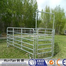 ISO9001 anping factory high quality Oval rail panel welded tubular corral panel fence 6 bar livestock farm fence