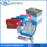 CE FDA ISO approved DIN13164 emergency car kit roadside emergency car tool kit