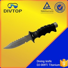 Wholesale Titanium ABS Handle Sharp Diving Serrated Knife