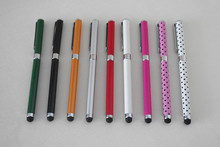 Custom logo capacitive stylus with ball pen for touch screen