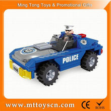 Plastic Building block car toy children battery operated toy car