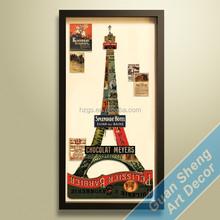 Guansheng CC008 new style Paris City painting 3d apinting