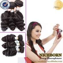 100% factory wholesale loose wave indian remy 100 human hair