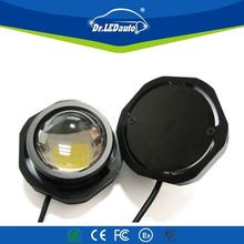 ODM supported qeedon 7inch black/chrome face led head lights