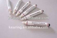 Red permanent ink textile marker, rubber bulb textile marker, permanent marking on fabric for sewing # TMS25-R