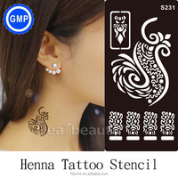 Henna tattoo stencil temporary tattoo Guangzhou tattoo GMPC factory supply