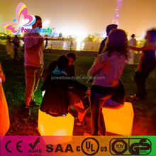 2015 china made new products colorful decor led outdoor furniture cube seat