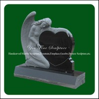 Hand Carved Western Style Angel Granite Gravestone