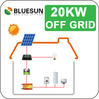 photovoltaic power generation system off grid 20kw complete home solar power system