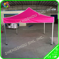 custom pink alu frame event folding tent