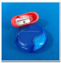 Promotional unique plastic pencil sharpener with eraser