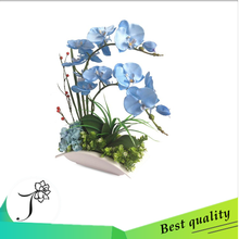 indoor wholesale chinese fabric artificial orchids wedding centerpiece