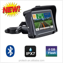 2015 Updated Version 8GB and FM 4.3 Inch Waterproof IPX7 Bluetooth GPS Navigator for Motorcycle+ Maps of Most Countries