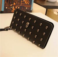 Cheap Wholesale New Designed Skull Purse For Lady Wallet