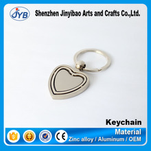 custom best selling good quality fancy heart shaped metal rotary key chain