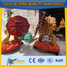 Cetnology animated fiberglass cartoon model for decoration/exhibition/show/performance