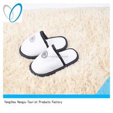 hotel white velour disposable children slipper