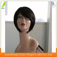 100% human hair full lace wig short style for black women