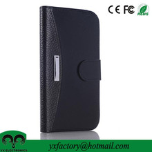 men's credit card holder flip pu leather cases for samsung s6 cover