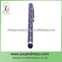 Rhinestone Ballpoint Pen Style Capacitive Screen Stylus Pen w/ Clip