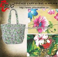 Hawaiian Hibiscus floral jungle beach bag