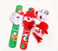 Popular hot selling Christmas gifts PVC slap bands for kids