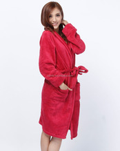 Factory customized cheap coral fleece bathrobes