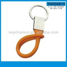 Y02049-1 Cheap promotional custom rubber keychain