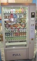 Automatic retail food vending machine for street shop