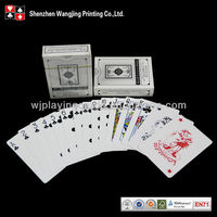 Casino 100% Plastic Playing Cards, Custom Plastic Poker Playing Cards, PVC Playing Cards