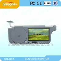 """7"""" TFT LCD CAR SUN-VISOR MONITOR.Compatible with DVD/VCD"""