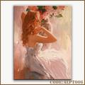 熱い販売の女性の肖像画の油絵