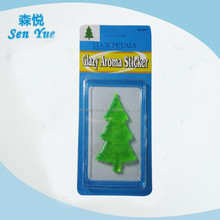 Tree shape gel air freshener,glazy aroma sticker , can be customized.