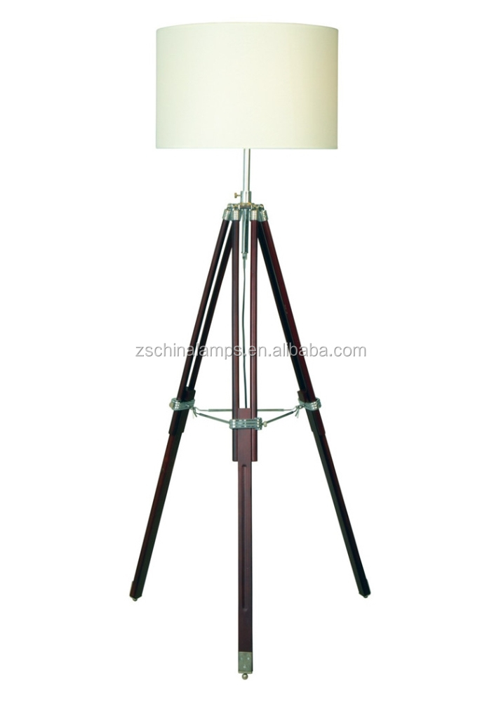 2016 indoor household wholesale beautiful natural woodern for Cheap tripod lamp