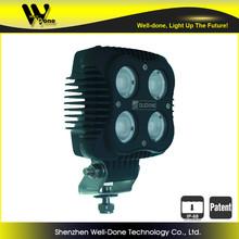 Oledone 40W auto square LED work light, auto flood light for 4x4, heavy vehicle
