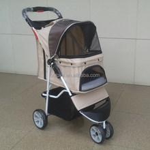 Pet stroller can fold dog stroller
