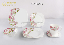 GUIXIN 12-piece Love Time Nice Porcelain Plate set, Service for 6, Purple