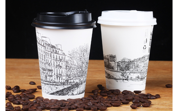 8 oz paper cups for coffee printed disposable paper coffee cups