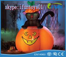 Cat Halloween Lighted Outdoor Inflatable /Inflatable Cat Halloween Decorations / Halloween Lighting Pumpkin Cat Inflatables
