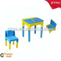 Plastic school table and chair