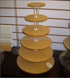 6 Tier Maypole Acrylic Wedding Party Favour Cupcake Cake Stand
