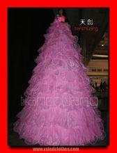 Largo flashing light vestido, DMX 512 led luces vestido de fiesta, luminoso cantante vestido largo