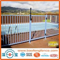 Outdoor Black Powder Coated Flat Top Loop Top Aluminum Pool Fence Gates Used in Pool Garden Backyard ( Factory &Exporter)
