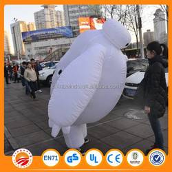2015 Hot sale costume big white inflatable,inflatable robot big white for advertising model